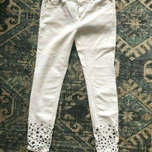 Vineyard Vines White Skinny Jeans with Stars